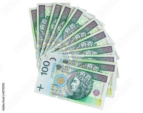 Fotografie, Obraz  Polish banknotes of 100 PLN