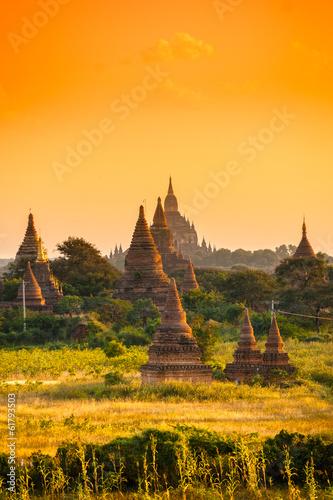 Photo Bagan at Sunset, Myanmar.
