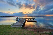 Sunset At Belmont, Lake Macqua...