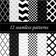 Twelve Seamless Geometric Patt...
