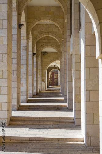 Naklejka na drzwi Colonnade in Jerusalem.