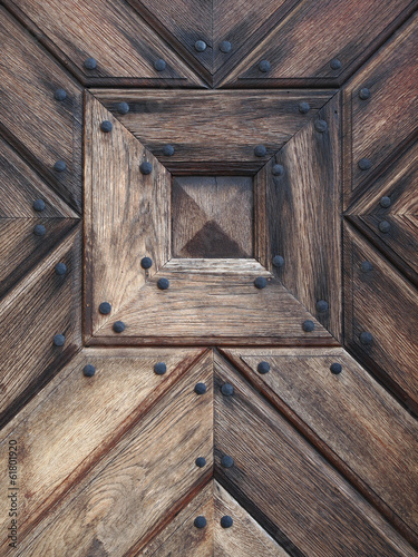 Fototapeta premium Drewniane drzwi detal