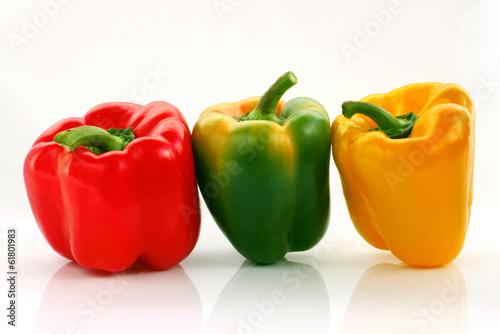 Fototapeta Papryka czerwona, żółta, zielona obraz