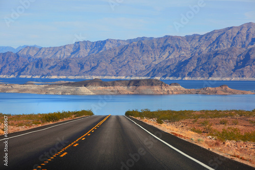 Scenic drive to Lake Mead Wallpaper Mural