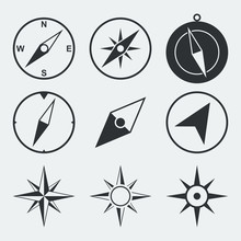 Navigation Compass Flat Icons ...