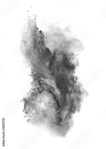Leinwand Poster Black dust