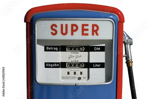 Photo  Tanksäule Super Sprit Wirtschaftswunder