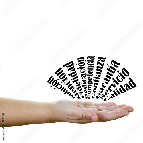 Fotografie, Obraz  Conceptos de negocios y empresa en acción
