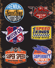 Vintage Motor Oil Signs And La...