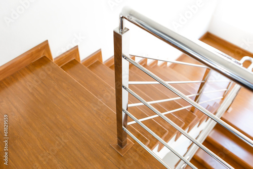 Foto op Plexiglas Trappen Interior wooden staircase of new house