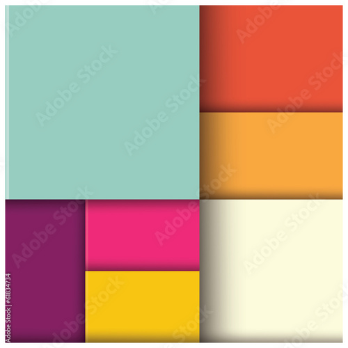 Abstract geometric 3d square background, template