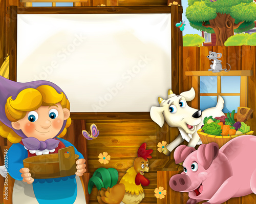 Wall Murals Bears On the farm - the happy illustration for the children