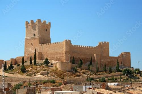 Carta da parati Villena Castle in Costa Blanca Alicante Spain
