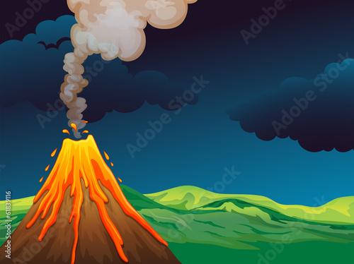 A volcano Fototapet
