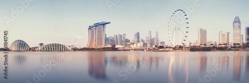 Tuinposter Singapore Panoramic image of Singapore`s skyline