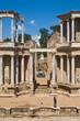 vista frontal del teatro romano de merida