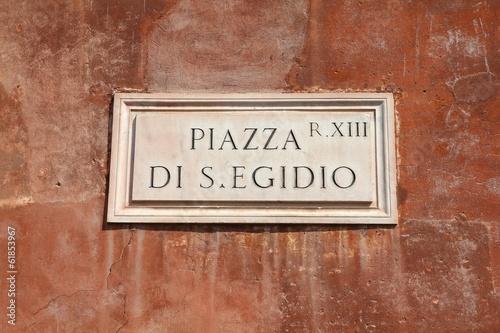 Photo  Rome architecture - Piazza di San Egidio