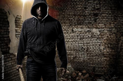 Valokuva  Thief in a dark alley