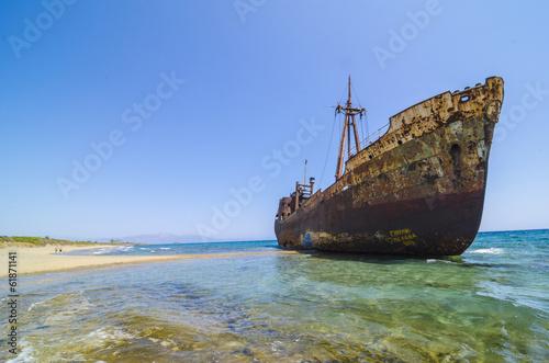 In de dag Schip Dimitrios shipwreck