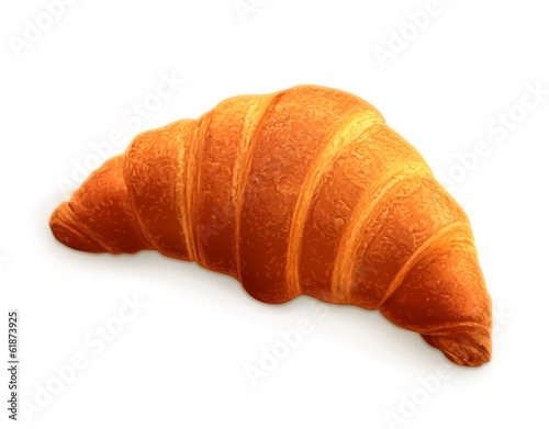 Croissant, photo realistic vector illustration Fototapeta