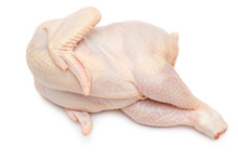 Raw Chicken Lies On One Side
