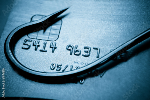 Pinturas sobre lienzo  phishing / credit card phishing / computer crime / fraud