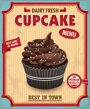 Vintage Chocolate Cupcake Post...