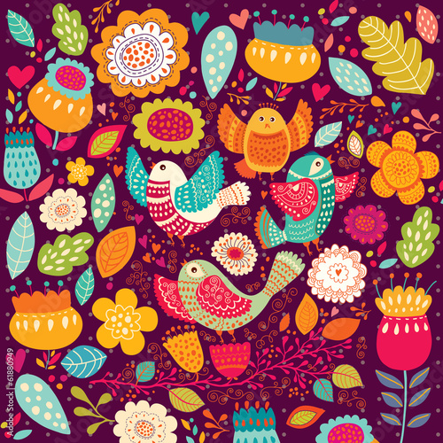 pattern-with-beautiful-birds-and-flowers