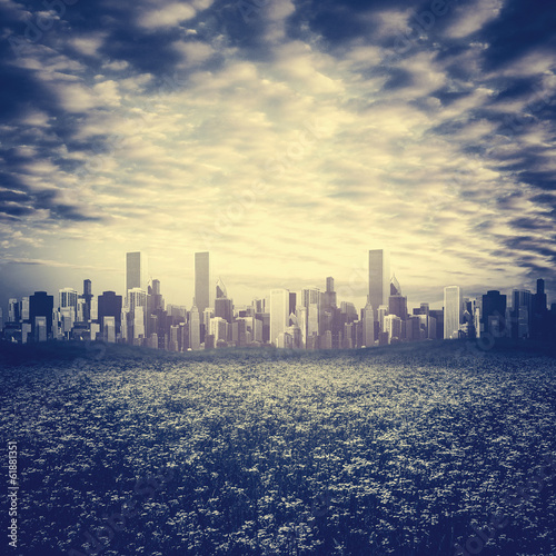 Staande foto Los Angeles Far away, abstract urban backgrounds