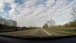 Autofahrt auf Autobahn