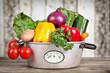 Gemüse im Topf in der Küche