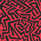 red tribal seamless pattern