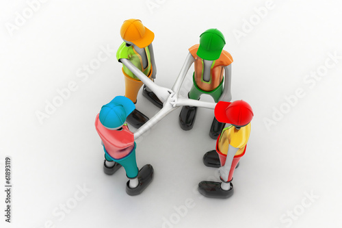 Fotografie, Obraz  3d people promising