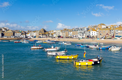 Garden Poster Cyprus Boats in St Ives harbour Cornwall England