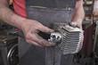Machine workshop cylinder checking