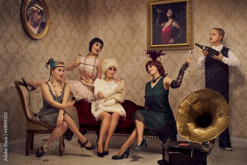 Valokuva  Retro style party