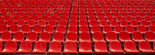 Rows Of Red Football Stadium S...