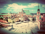 Old town in Warsaw, Poland. Vintage - 61905771