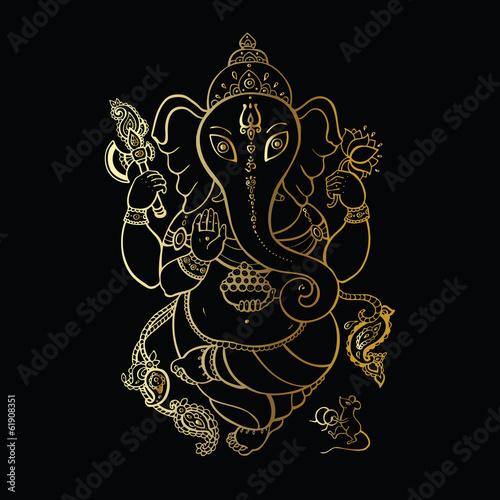 Photo  Ganesha Hand drawn illustration.