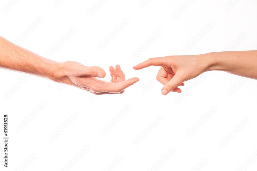 Fototapeta helping hands