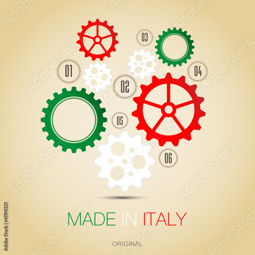 Fotografie, Obraz  Made in Italy - Gears