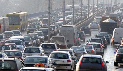 Traffic jam Fototapet