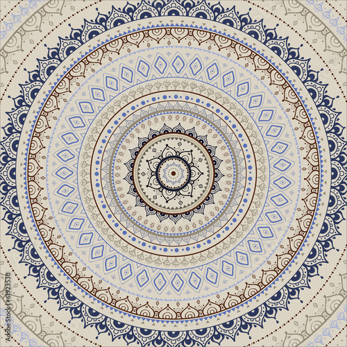 Fotografía  Mandala. Indian decorative pattern.