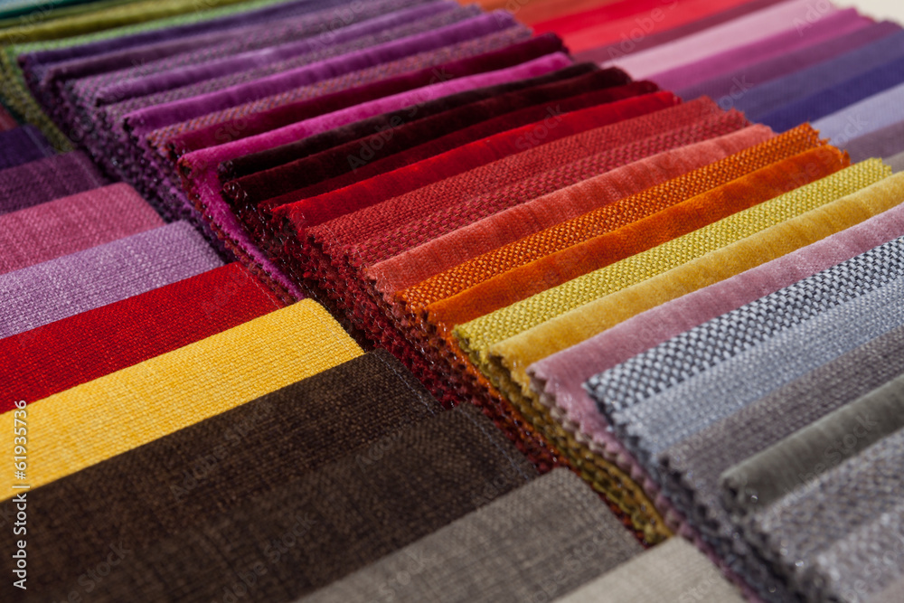 Fototapety, obrazy: colorful fabric samples
