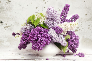 Naklejka Beautiful Bunch of Lilac in the Vase