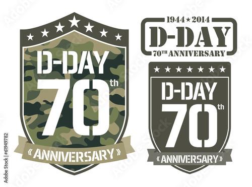 Poster  Escutcheon D-DAY Anniversary