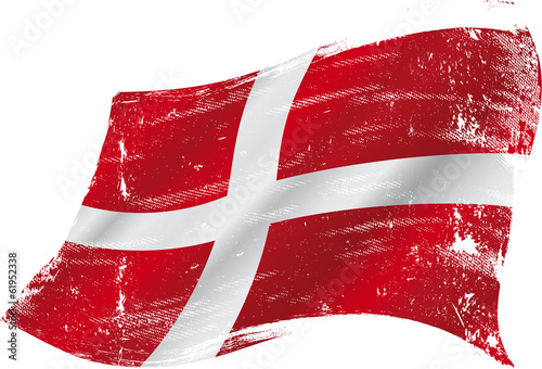 Photo  danish grunge flag