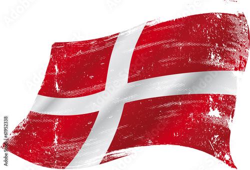 danish grunge flag Fototapete