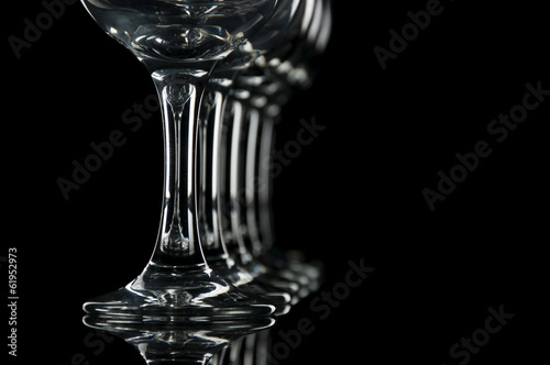 Fotografie, Obraz  copas de vino y agua fondo negro