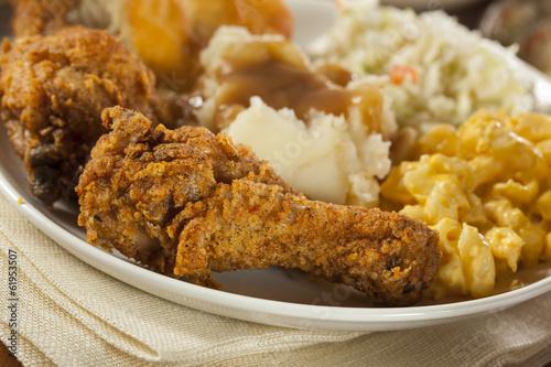 Fotografie, Obraz  Homemade Southern Fried Chicken